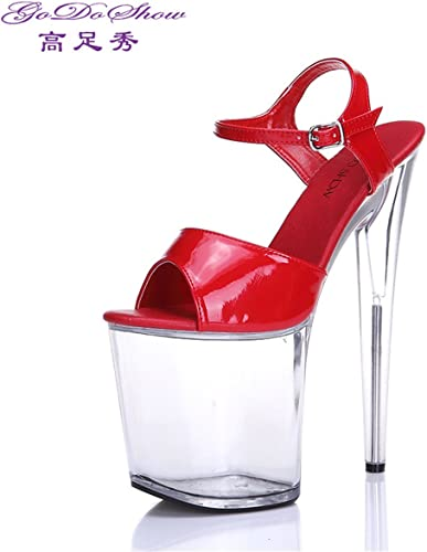 Femme Eté Sandales    Chaussures Les femmes sandales à talons hauts imperméables   Taiwan   sandales à talons hauts Chaussures cristal transparent   Fish mouth high-heeled sandals  commander maintenant les prix les plus bas