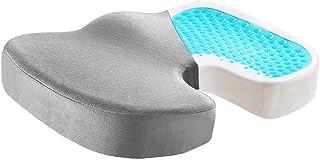 Dailychic Gel Enhanced Memory Foam Seat Cushion - Office Chair Cushion for Tailbone, Sciatica & Back Pain - Ideal for Car ...