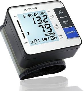Blood Pressure Monitor, Jumper Automatic Medical Wrist Pressure Monitor Cuff BP Meter Pulse Rate Irregular Heartbeat Measurement for Health Monitoring