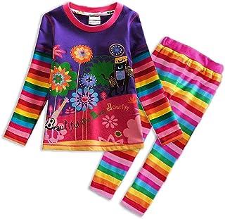 VIKITA Girls Dresses Cotton Embroidery Long Sleeve Toddler Dress 2-8 Years
