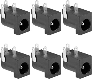 uxcell 10Pcs DC Power Jack 2.0mm Barrel Type PCB Mount Socket Connector