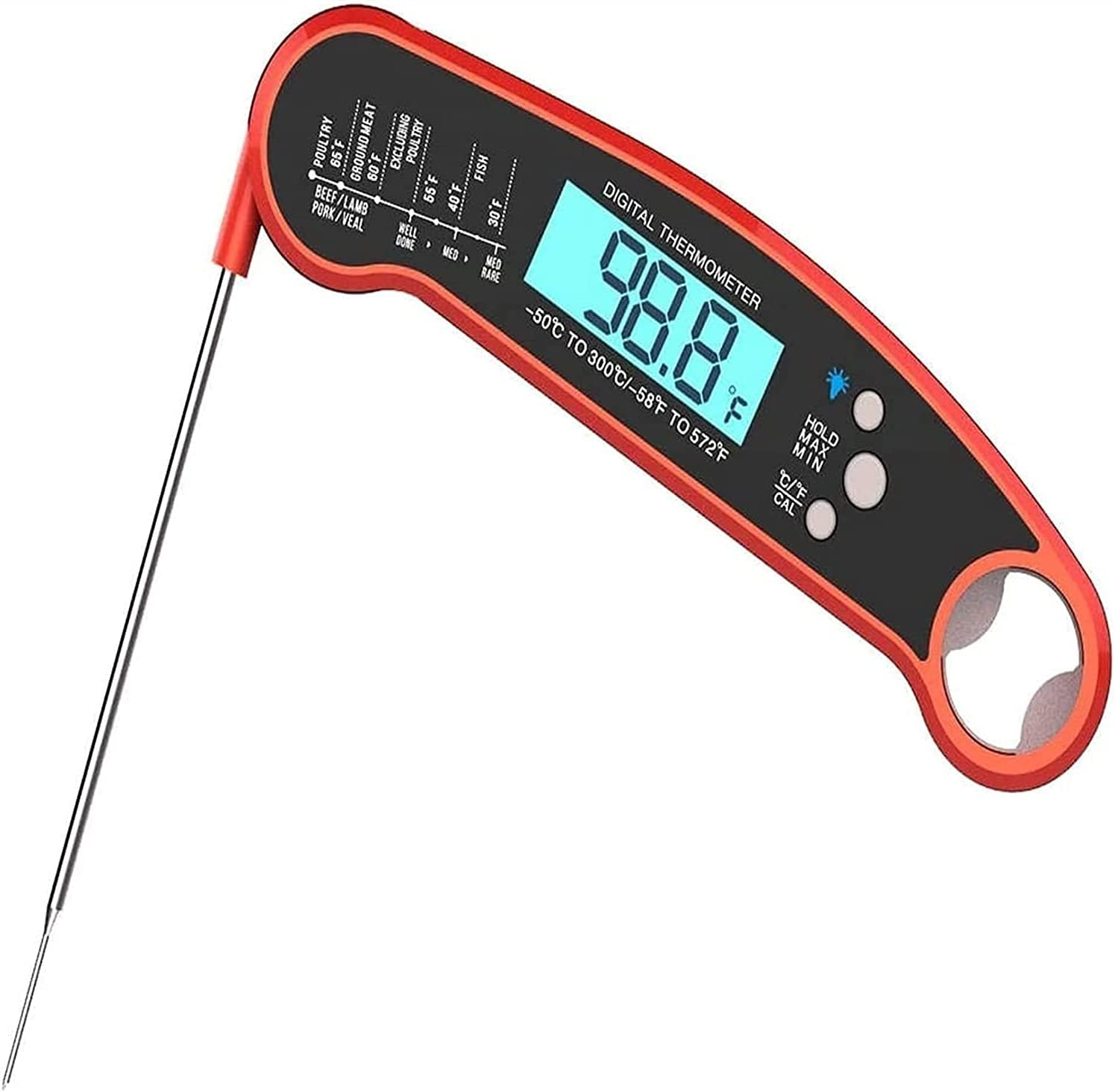 Odekai Instant Denver Mall Read Meat depot Waterproof Thermometer 2s