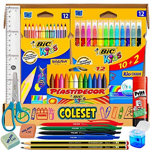 Coleset Pinturas para Niños Pack Material Escolar infantil Manualidades niños...