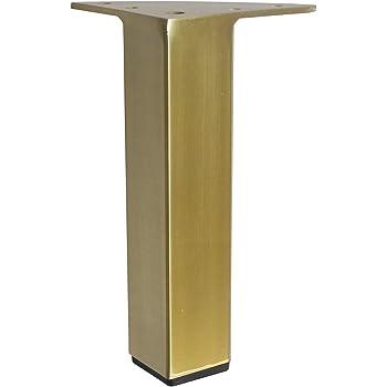 4PC Feet 5 in Brass Brushed Satin Chrome for Sofa Chair Cabinet Feet 5 in Brass Brushed Satin Chrome for Sofa Chair Cabinet Square Metal Furniture Leg Polished Chrome 4PC Alpha Furnishings 801-5 Polished Chrome