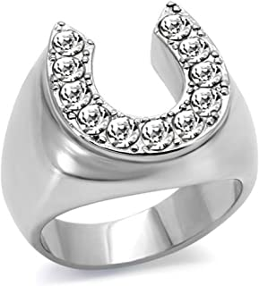 Best stainless steel horseshoe ring Reviews