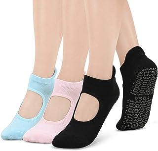 Calcetines Pilates Yoga, Calcetines Antideslizantes Mujer Hombre pour Yoga, Pilates, Ballet,Fitness Antideslizantes,EU 35-42