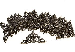 chiwanji 20 pcs Kantenabdeckung Metall Vintage Eckenschutz Kantenschutz M/öbel Ecken mit Schrauben