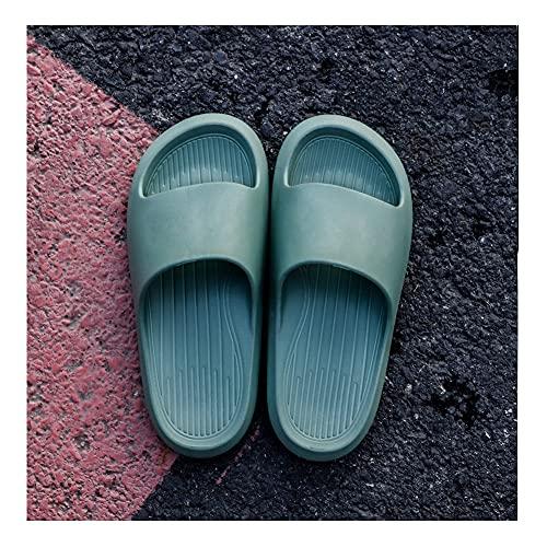 Comodas Chanclas Mujer EVA Ducha Playa y Piscina Slide Zapatilla De Baño Zapatos De Piscina Sandalias De Interior Sandalias Suaves Zapatillas Para El Baño -B/F / 35/36