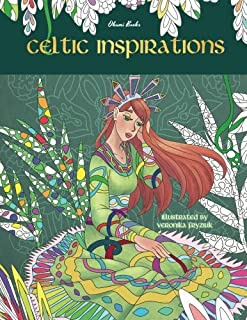 Celtic Inspirations - Adult Coloring Books: Relax on a Magical Journey (Animals, Relaxation, Peace, Zen, Meditation)