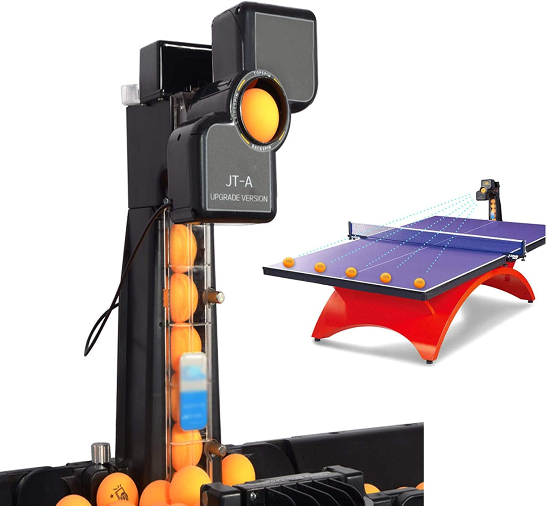 ASDQWER Máquina de Robot de Tenis de Mesa, máquina de Robots de Ping Pong de Mesa con Red de Captura para Entrenamiento, Robot de Tenis de Mesa automático Ping Pong máquina de Robot, Entrenamiento
