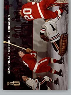 1995-96 Parkhurst '66-67 Hockey #147 Stanley Cup Playoffs Semifinals Detroit Red Wings/Chicago Blackhawks