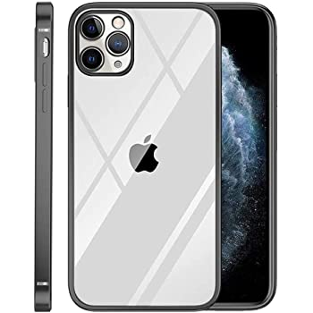 Classic Straight Soft Thin TPU Cover Square Clear Case Flat Edge for iPhone 11 Pro Max Black