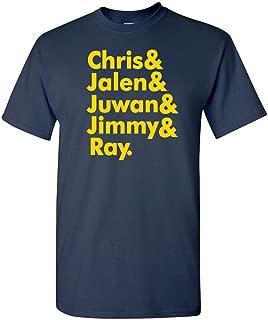 Navy Michigan Jalen, Chris, Juwan T-Shirt