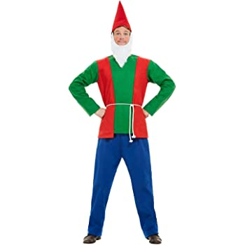 Smiffys 50963L - Disfraz de gnomo para hombre, talla L, 106,68-111 ...