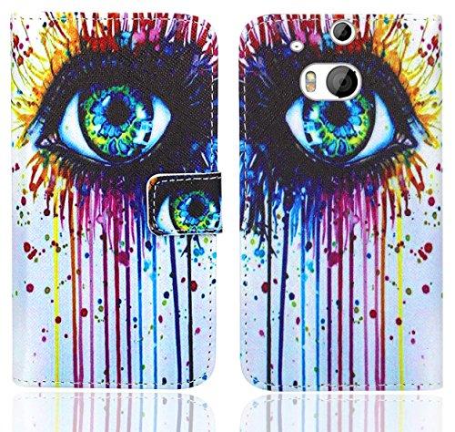 HTC One M8 / M8s Handy Tasche, FoneExpert® Wallet Hülle Flip Cover Hüllen Etui Ledertasche Lederhülle Premium Schutzhülle für HTC One M8 / M8s (Pattern 10)