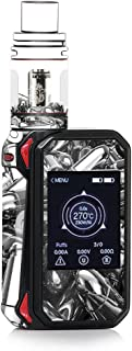 Skin Decal Vinyl Wrap for Smok G-Priv 2 230w touch screen Vape stickers skins cover / Silver Bullets Polished Black White