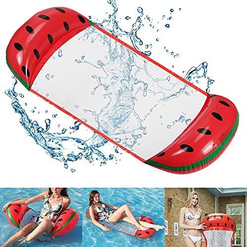 O-Kinee Aufblasbares Schwimmbett, Aufblasbare Hängematte, Wasser Hängematte Aufblasbare, 4-in-1Loungesessel Pool, Pool Hammock, Aufblasbare Hammock für Erwachsene und Kinder