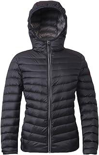 Rokka&Rolla Women's Ultra Lightweight Hooded Packable Puffer Down Jacket
