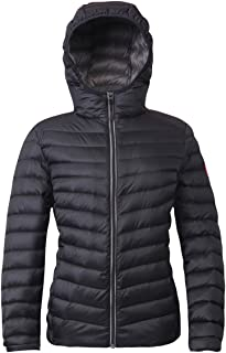 lightweight puffer jacket with hood womens