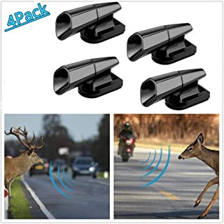 Super repairman 4PCS Save A Deer Whistles Deer Warning Devices for Cars & Motorcycles Include Ultrasonic & Wind Whistle Car Safety Accessories Gift