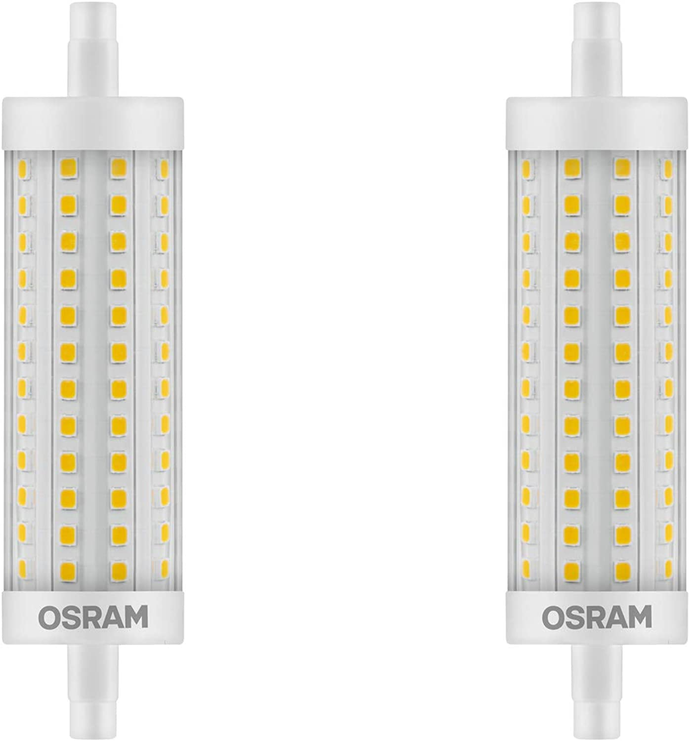 OSRAM LED SUPERSTAR LINE 118 R7s 17,5W=150W 2452lm warm Weiß 2700K dimmable 2er