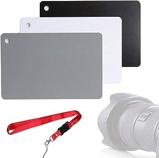 White Balance 18% Grey Cards Digital Photography Exposure Card Custom Color Calibration Camera Checker for Digital Photography Video DSLR and Film (3.35