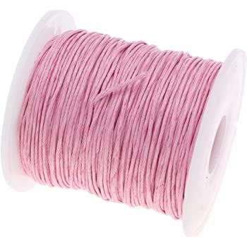 75 m cordón de algodón encerado joyas 1 mm Rosa Cera hilos Manualidades C175: Amazon.es: Joyería