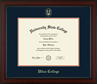 Utica College - Officially Licensed - Masters/PhD - Gold Embossed Diploma Frame - Diploma Size 14
