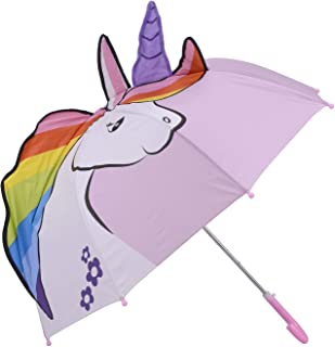 Micaddy Unicorn Umbrella w/Stars Pop up Umbrella for Kid with Safety Open and Close Age 3-7