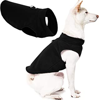 Gooby - Fleece Vest, Small Dog Pullover Fleece Jacket with Leash Ring, Black, X-Small