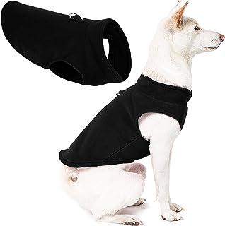 Gooby - Fleece Vest, Small Dog Pullover Fleece Jacket with Leash Ring, Black, Medium