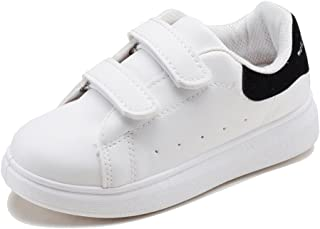 iDuoDuo Kids Classic Leather White Shoes Breathable School Tennis Sneakers (Toddler/Little Kid/Big Kid)