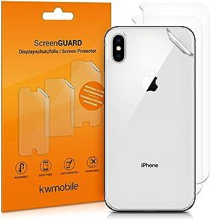 kwmobile 3x Pellicola protettiva posteriore compatibile con Apple iPhone XS Max- Protezione retro smartphone - Qualità pre...