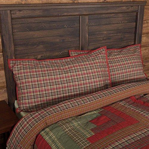 VHC Brands Gatlinburg Plaid Cotton Rustic Bedding Accessory, King Sham 21x37