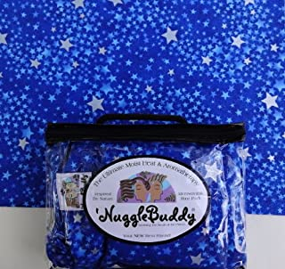 'NUGGLEBUDDY Microwavable Moist Heat & Aromatherapy. Nature's Approach to Pain Relief! Organic Rice Pack. Heating Pad. Beautiful Star Fusion Fabric. SWEET LAVENDER Aromatherapy!