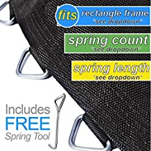 Trampoline Pro Rectangle mat with 72 Rings for 12ft X 7ft Frame and 6.5