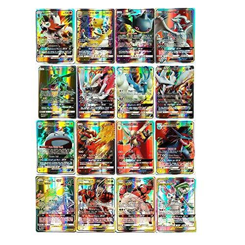 Cortneyrs Pokemon Card, Pokemon Flash Card, Pokemon Card, Carta per Bambini, 60 Carte GX Complete, 60 Carte Mega Complete (GX60)