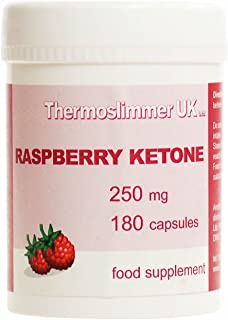 Thermoslimmer Uk Raspberry Ketone 250mg 180 Capsules Ketones Food Supplement (1 BOTTLE)