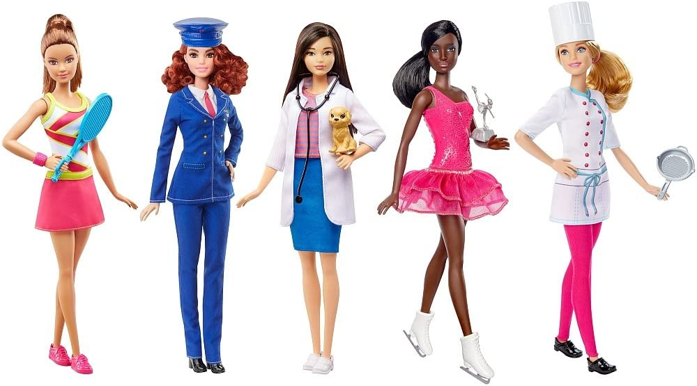 Barbie Career Fashion Max 85% OFF Dolls 5 Set Miami Mall