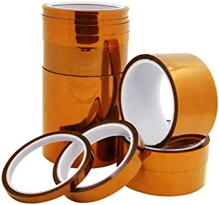 2 Rolls High Temperature Kapton Tape 50mm x 33mm Polyimide Film Tape for Masking,3D Printing,Electric Task