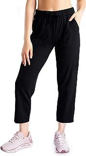 Yogipace,4 Pockets,Women's Petite/Regular/Tall Crop Pants Wide Leg Jersey Capris