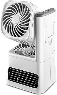 BLWX Zhang Li Li Mini Ventilador Eléctrico/Calefactor Eléctrico bajo Consumo, Portátil Ventilador Calefactor PTC Cerámica, Calefactor Aire Frio y Caliente,para el Hogar, la Oficina y el Escritorio