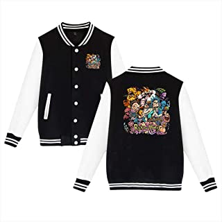 Rick N Morty Men Baseball Jacket Uniform Sweater Coat