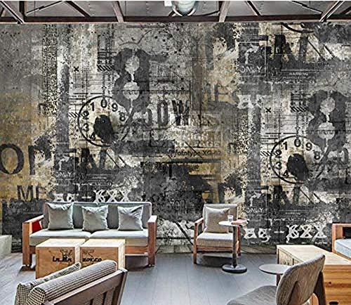 Carta da parati murale personalizzata Carta da parati inglese retrò bar caffetteria Carte da parati sfondo Decorazioni per la casa Carta da parati 3D murale-400cmx280cm @ 350cmx245cm