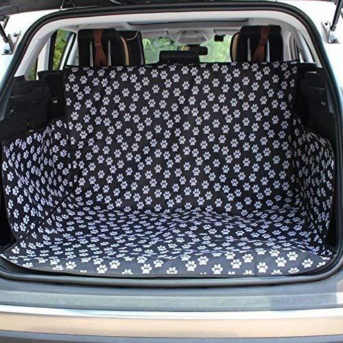 ZGYQGOO Auto Abdeckung Für Hunde Hund Fahrzeug Cargo Liner Abdeckung Haustier Sitzbezug Bett Bodenmatte rutschfeste wasserdichte Universal Für Auto SUV LKW Jeeps Vans (Farbe: Paw Prints A)