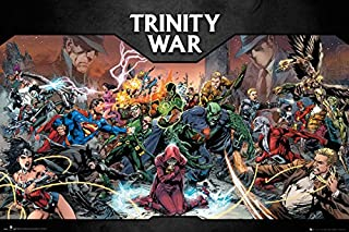 Trinity War - DC Comics Poster/Print (Batman, Superman, Wonder Woman. vs. The Villains) (Size: 36 inches x 24 inches) (Poster & Poster Strip Set)