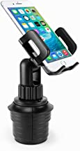 Cellet Car Cup Holder Mount for Apple iPhone Xr Xs Max X 8 7 Samsung Note 10 9 8 Galaxy S10e S10 Plus S9 Plus S8 Plus LG V40 G7 G6 Q7+ Stylo 4 V35 Moto G6 X4 Google Pixel 3 XL (Short Neck 6in)