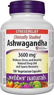 Ashwagandha stress relief Webber Naturals 120 capsules 3600mg