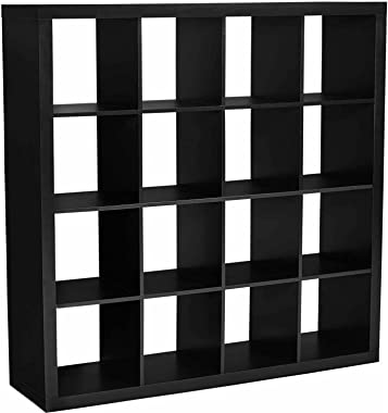 Better Homes and Gardens BH15-084-199-14 Wood Composite 16-Cube Organizer, Solid Black Color (Solid Black)