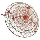 Wire Fruit Basket 3-Tier Wire Flower Basket Metal Hanging Planter Folding Plant Basket for Home Kitchen Garden
